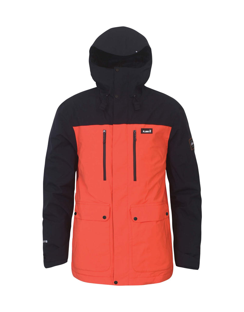 Planks Good Times Insulated Mens Ski Jacket-Small-Orange-aussieskier.com