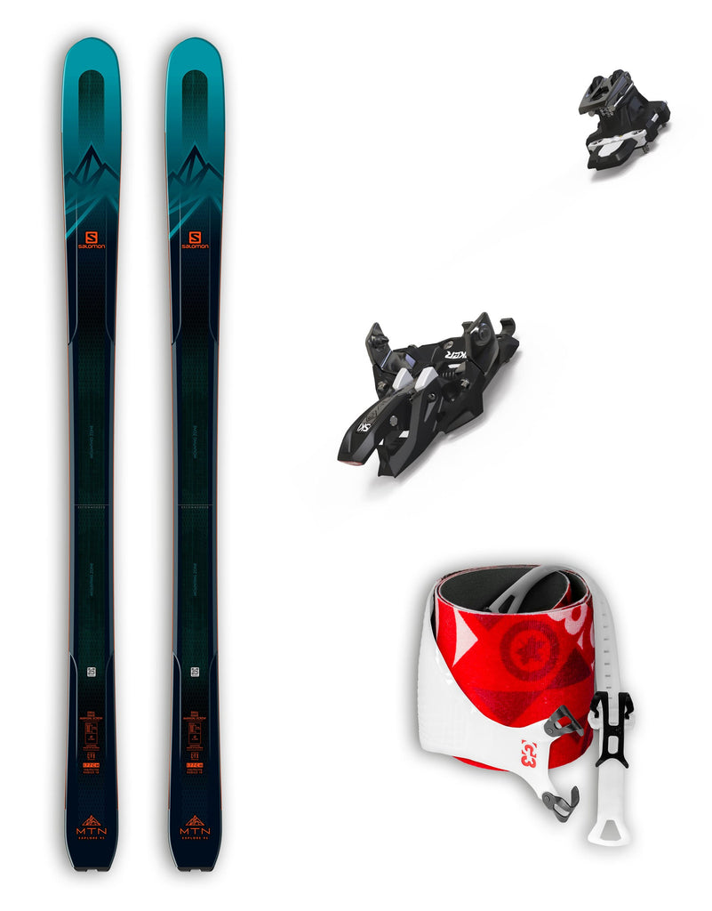 Salomon MTN Explore 95 Skis + Marker Alpinist 12 Bindings & G3 Alpinist Skins Package 2020-aussieskier.com