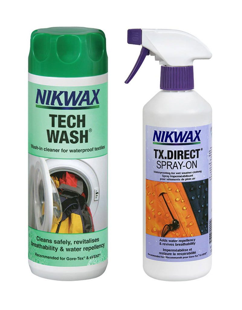 Nikwax Tech Wash + TX Direct Spray-On Waterproofer Package