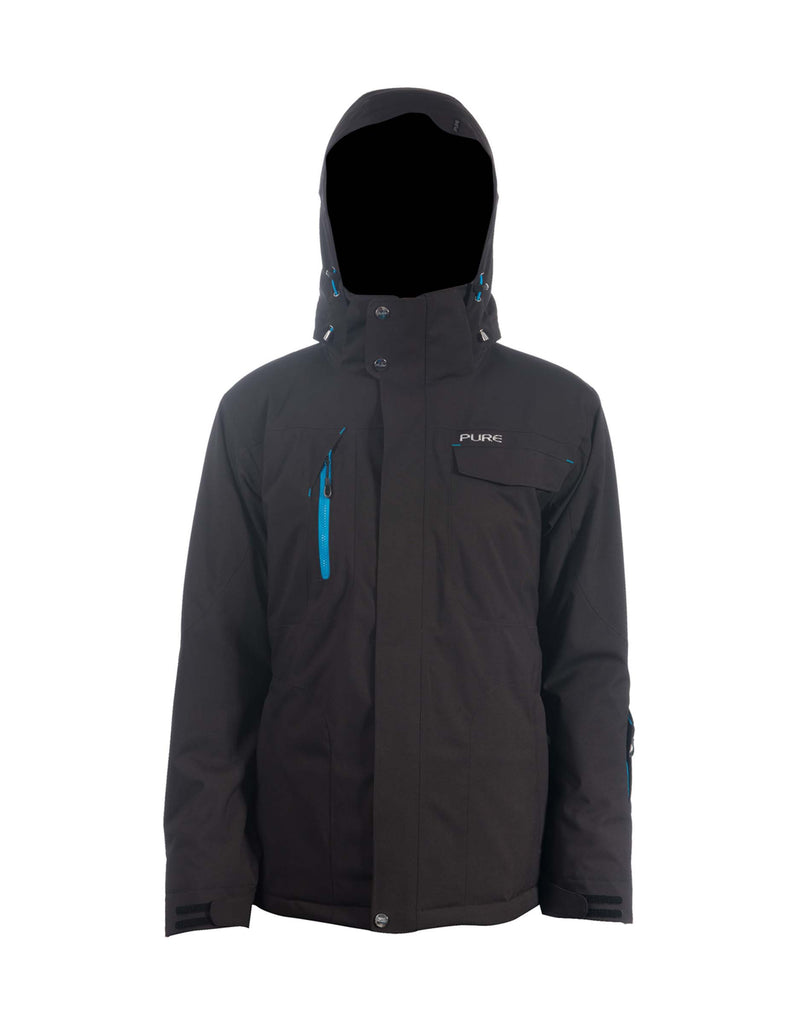 Pure Riderz Northstar Mens Ski Jacket-Small-Black Heather-aussieskier.com