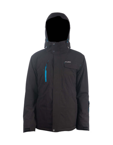 Image of Pure Riderz Northstar Mens Ski Jacket-Small-Black Heather-aussieskier.com