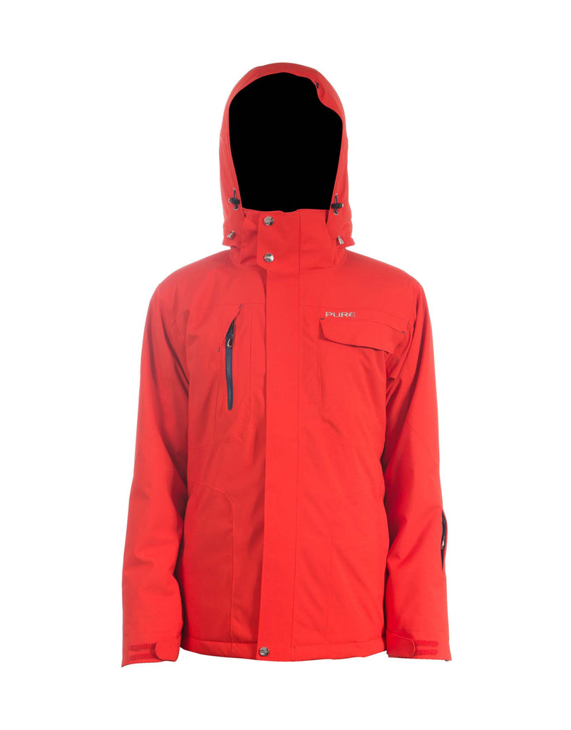 Pure Riderz Northstar Mens Ski Jacket-Small-Red-aussieskier.com