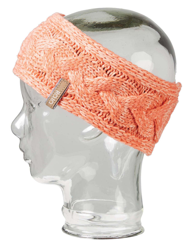 Rojo Plaited Womens Headband-Peach Pearl-aussieskier.com