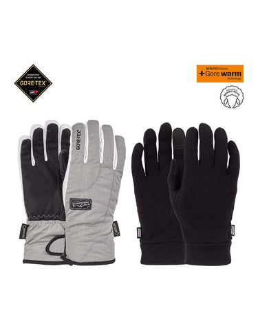POW Crescent Short Gore Tex Womens Gloves-Small-Ash-aussieskier.com