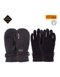 POW Crescent Short Gore Tex Womens Mittens-Small-Black-aussieskier.com