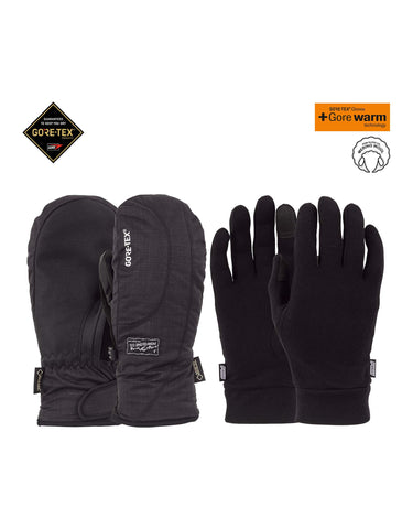 Image of POW Crescent Short Gore Tex Womens Mittens-Small-Black-aussieskier.com