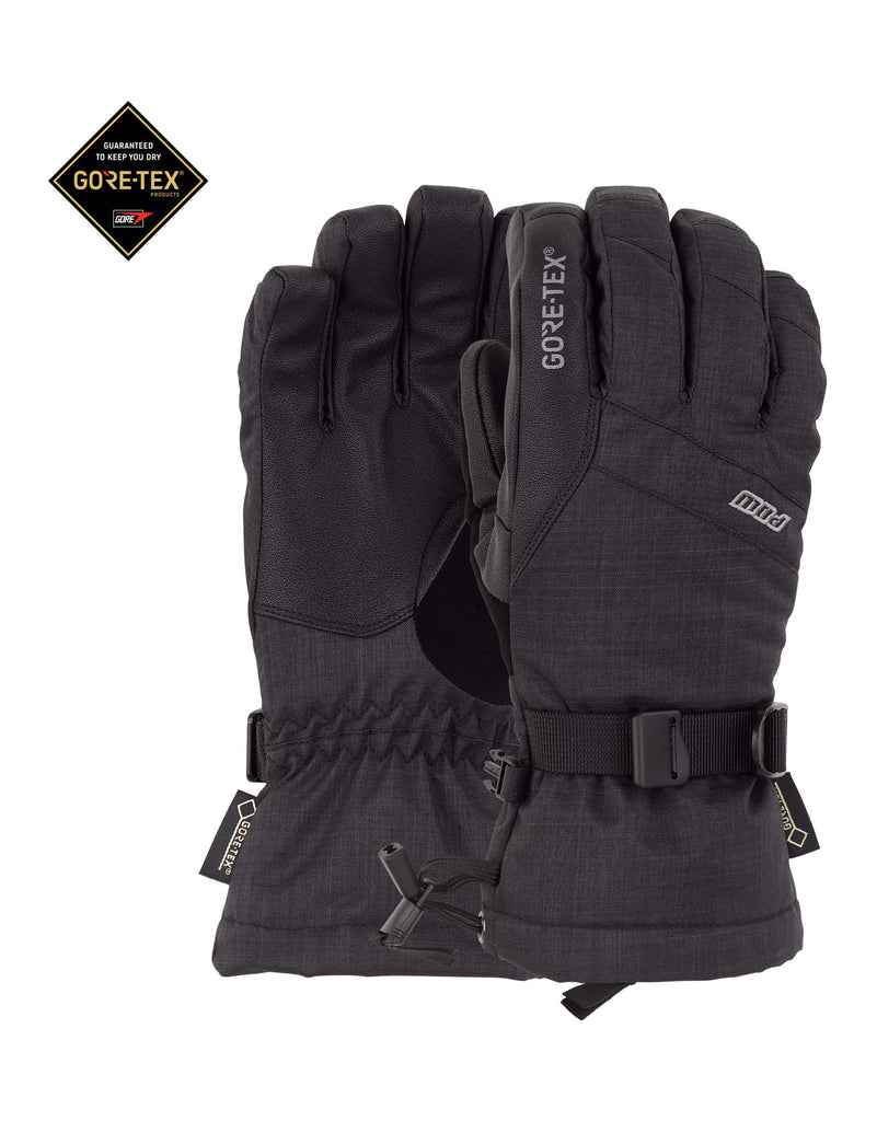 POW Warner Gore Tex Junior Gloves-8-Black-aussieskier.com