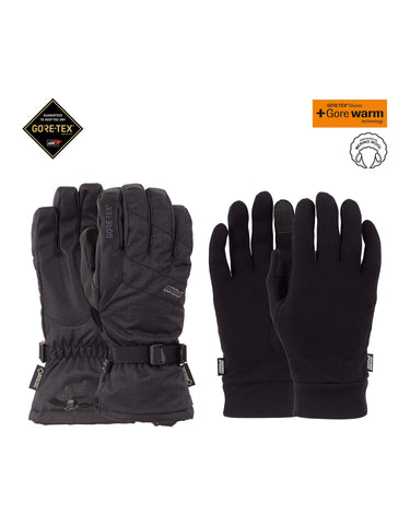 Image of POW Warner Long Gore Tex Gloves-Small-Black-aussieskier.com