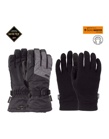 POW Warner Long Gore Tex Gloves-Small-Charcoal-aussieskier.com