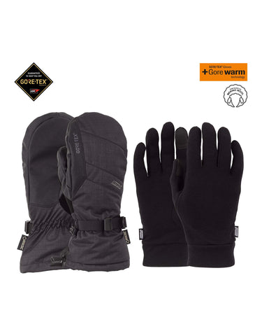 Image of POW Warner Long Gore Tex Mittens-Small-Black-aussieskier.com