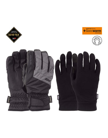 POW Warner Short Gore Tex Gloves-Small-Charcoal-aussieskier.com