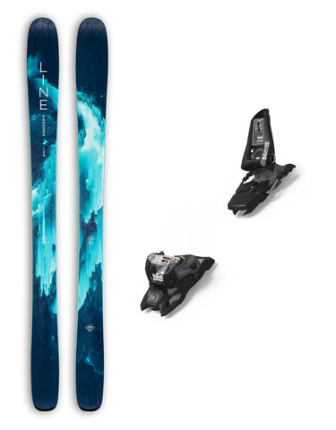 Line Pandora 104 Womens Skis + Marker Squire Bindings Package 2020-158cm-aussieskier.com