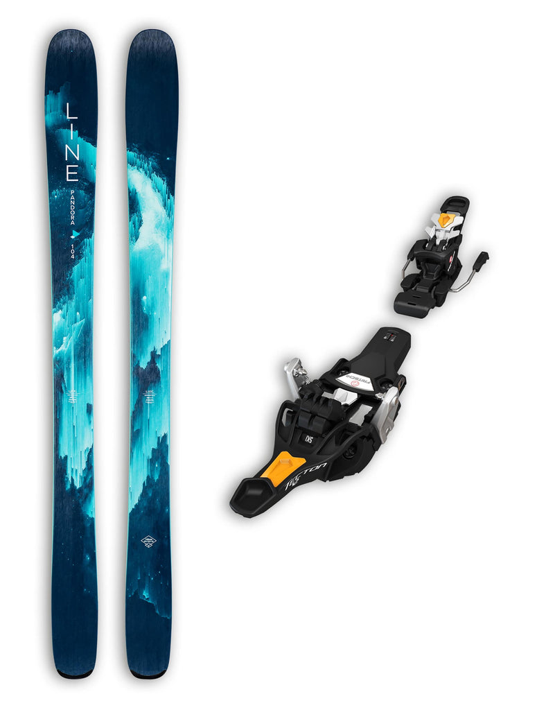Line Pandora 104 Womens Skis + Fritschi Tecton 12 Bindings Package 2020