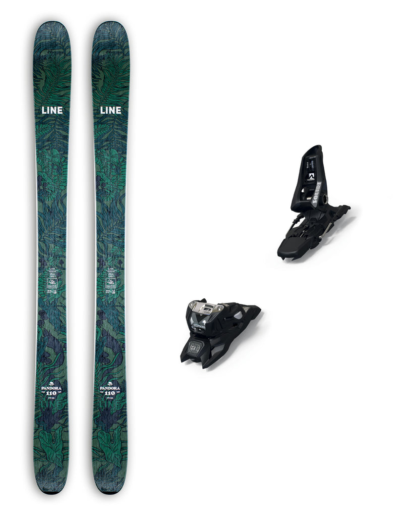 Line Pandora 110 Womens Skis + Marker Squire ID Bindings Package 2021