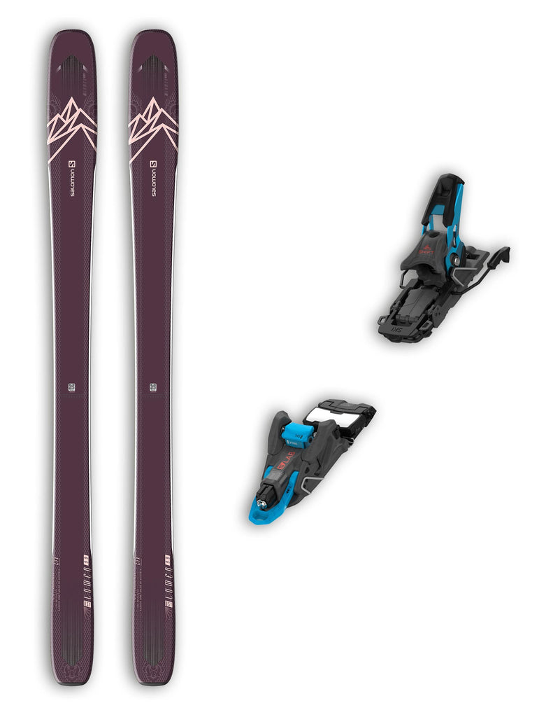 Salomon QST Lumen 99 Womens Skis + Salomon S/Lab Shift Bindings Package 2020