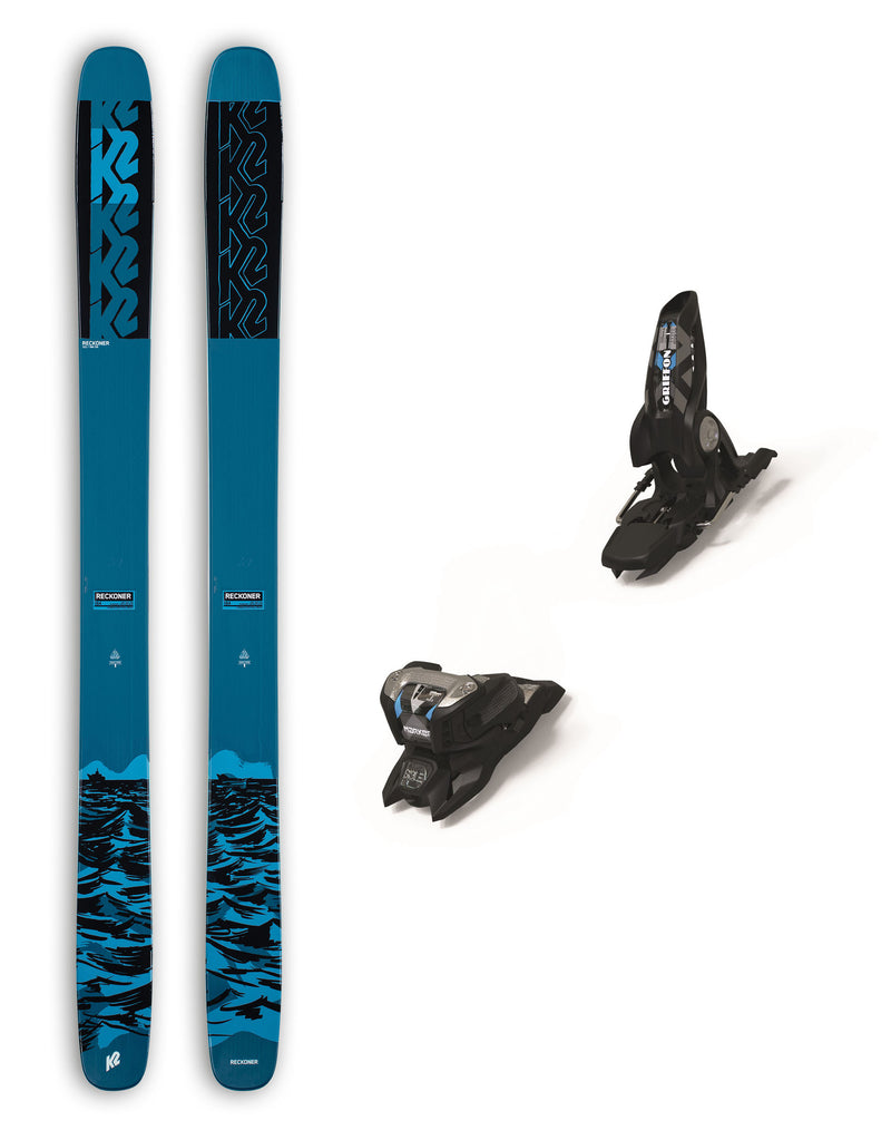 K2 Reckoner 122 Skis + Marker Griffon ID Bindings Package 2021