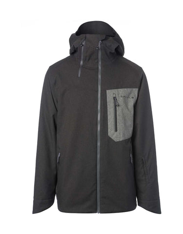 Image of Rip Curl Rebound Fancy Ski Jacket-Small-Jet Black-aussieskier.com