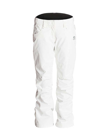Rip Curl Qanik Womens Ski Pants-Small-Optical White-aussieskier.com