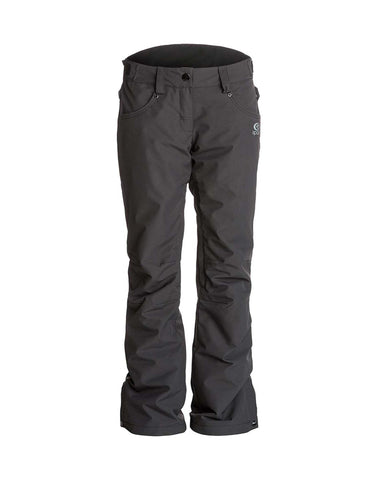 Image of Rip Curl Qanik Womens Ski Pants-X Small-Black-aussieskier.com