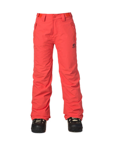 Image of Rip Curl Olly Junior Ski Pants-8-Hot Coral-aussieskier.com