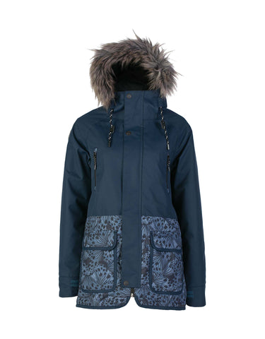 Image of Rojo Stockholm Womens Ski Jacket-8-Little Wings Midnight-aussieskier.com