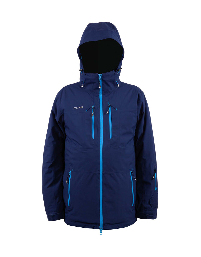 Pure Snow Sapporo Mens Ski Jacket-Small-Navy-aussieskier.com
