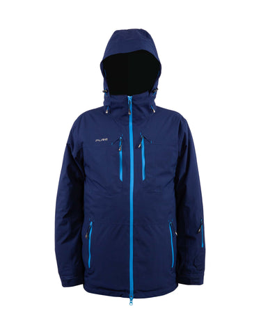 Image of Pure Snow Sapporo Mens Ski Jacket-Small-Navy-aussieskier.com