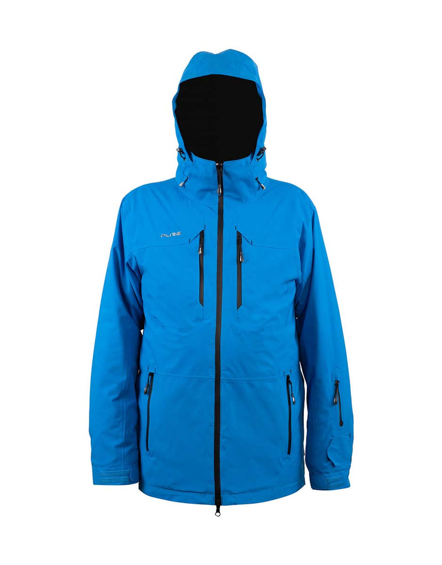 Pure Snow Sapporo Mens Ski Jacket-Ebony-Small-aussieskier.com