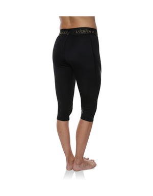 Vigilante Womens SkiMiss 3/4 Compression Leggings