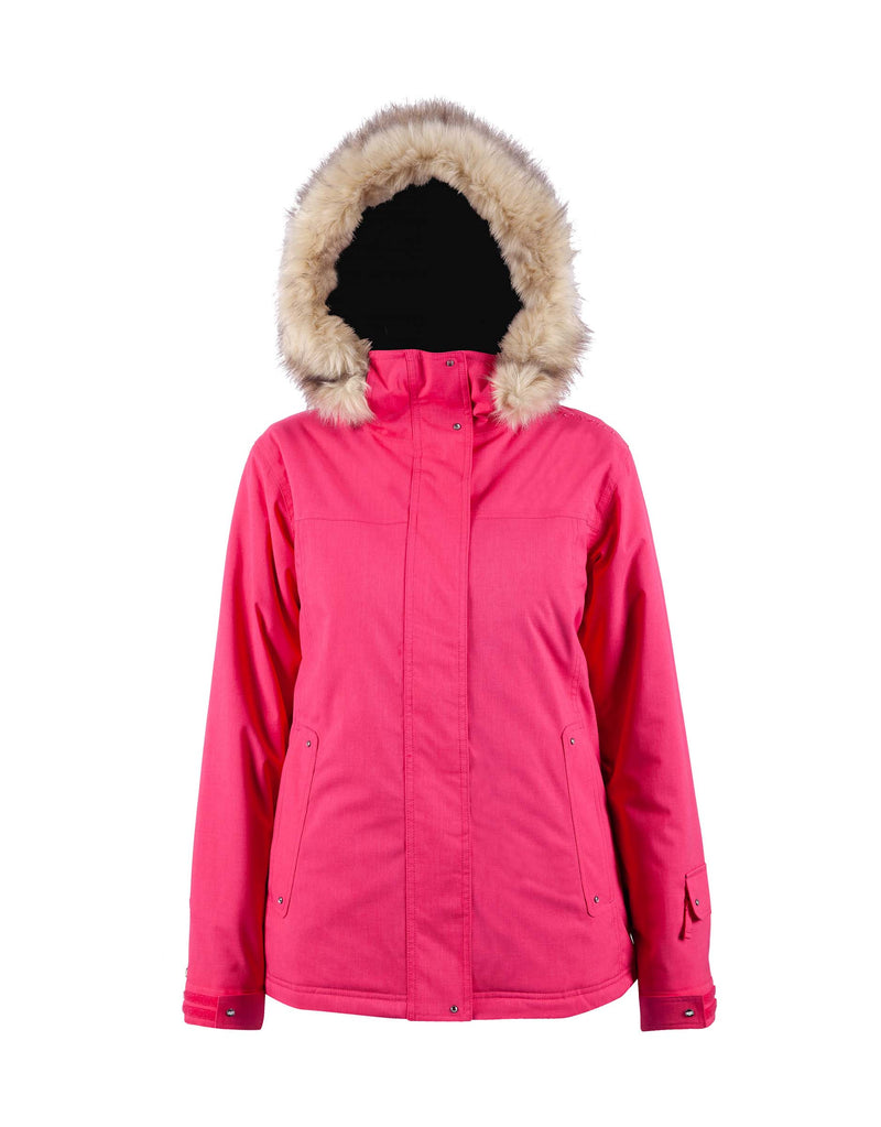 Cartel Soho Womens Ski Jacket-6-Azalea Heather-aussieskier.com