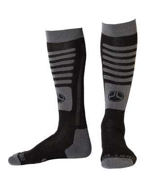 Elude Tech Ski Socks-42 - 44-True Black-aussieskier.com