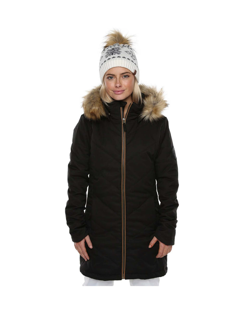 XTM Courcheval Ladies Ski Jacket-8-Black-aussieskier.com
