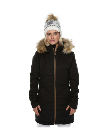 Image of XTM Courcheval Ladies Ski Jacket-8-Black-aussieskier.com