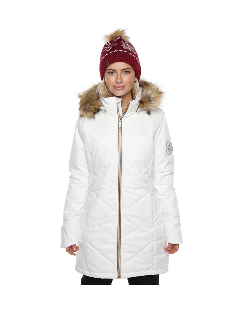XTM Courcheval Ladies Ski Jacket-8-White-aussieskier.com