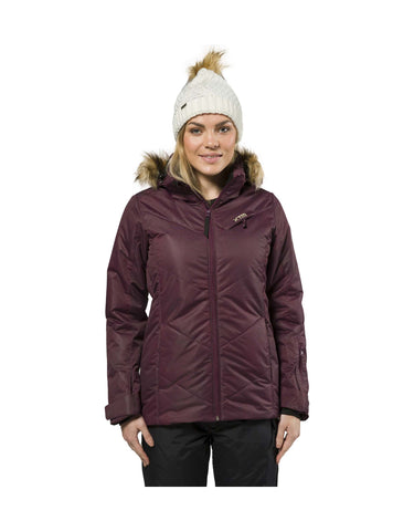 Image of XTM Pia Ladies Ski Jacket Plus Size-20-Shiraz Denim-aussieskier.com