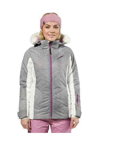 Image of XTM Pia Ladies Ski Jacket-8-Grey Denim-aussieskier.com