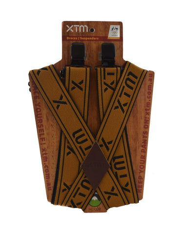 Image of XTM Braces Suspenders-Copper-aussieskier.com