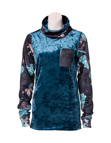Image of Rojo Velvet Funnel Zip Base Layer Top-8-Celestial-aussieskier.com