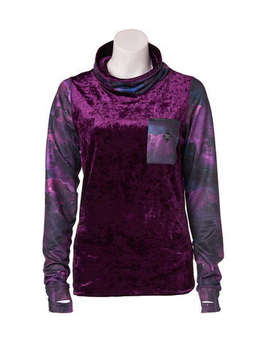 Image of Rojo Velvet Funnel Zip Base Layer Top-8-Mysterioso-aussieskier.com