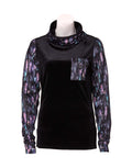 Rojo Velvet Funnel Zip Base Layer Top-8-True Black-aussieskier.com