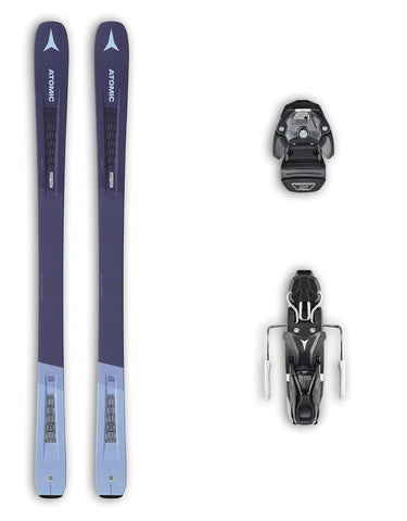 Atomic Vantage 90 Ti W Womens Skis + Atomic Warden 11 MNC Bindings Package 2020-153cm-aussieskier.com