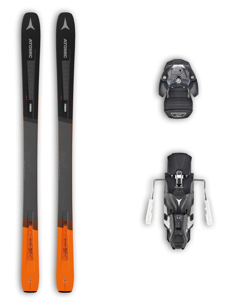 Atomic Vantage 97 Ti Skis + Atomic Warden 13 MNC Bindings Package 2020-180cm-aussieskier.com