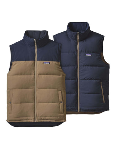 Image of Patagonia Mens Reversible Bivy Down Vest-Small-Ash Tan-aussieskier.com