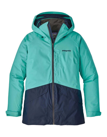 Image of Patagonia Womens Insulated Snowbelle Ski Jacket-X Small-Strait Blue-aussieskier.com