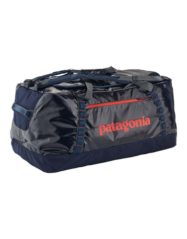 Patagonia Black Hole 120L Duffel Bag-Navy Blue w/ Paintbrush Red-aussieskier.com