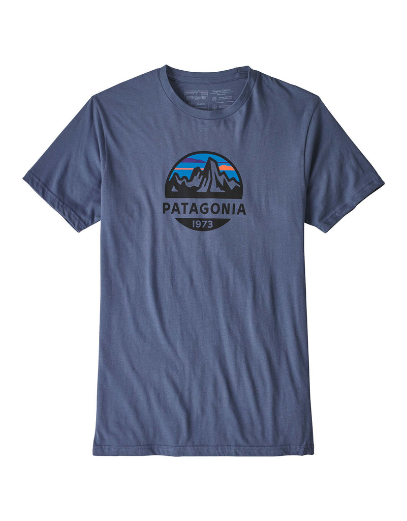 Patagonia Fitz Roy Scope Organic T Shirt-Medium-Dolomite Blue-aussieskier.com