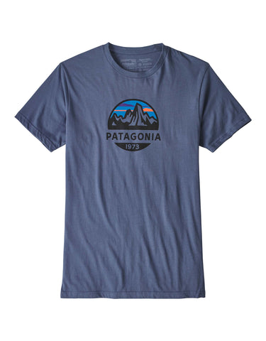 Image of Patagonia Fitz Roy Scope Organic T Shirt-Medium-Dolomite Blue-aussieskier.com