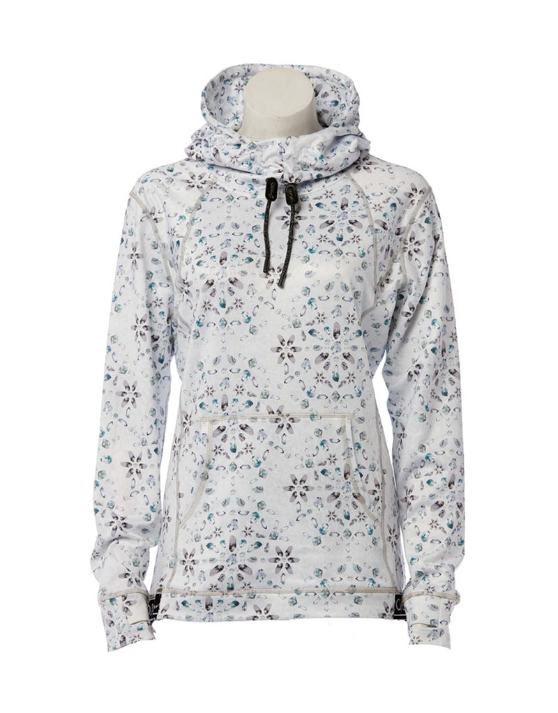 Rojo Womens Thermal Hooded Base Layer-6-Crystal Mountain Print-aussieskier.com