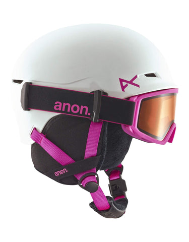 Image of Anon Define Junior Ski Helmet-White / Pink-Large / X Large-aussieskier.com