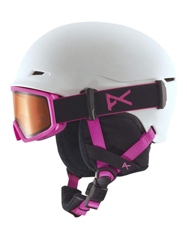Anon Define Junior Ski Helmet-White / Pink-Small / Medium-aussieskier.com